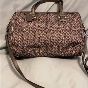 Coach Taylor snake print satchel